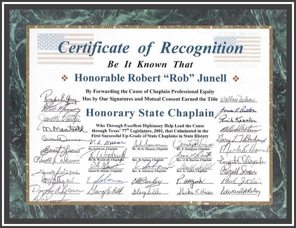 Rob Junnell Honorary Chaplain